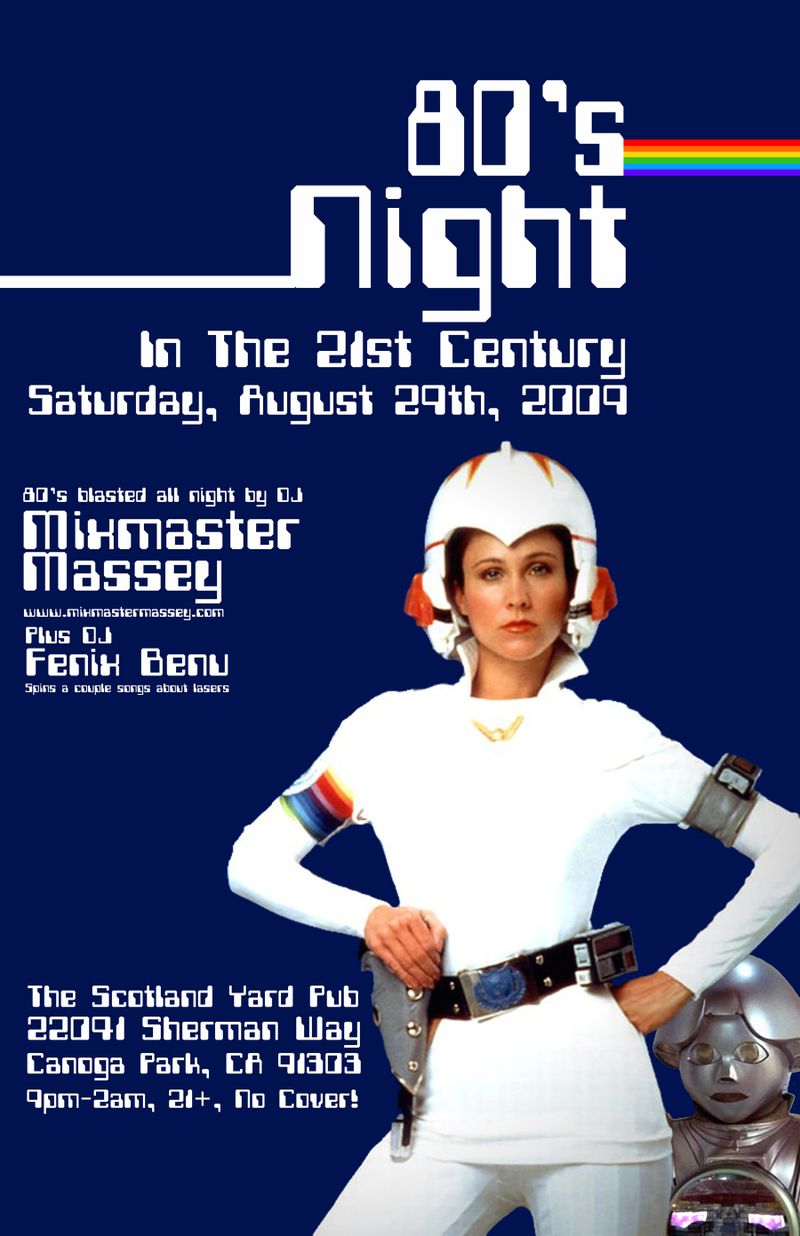 August 09 80s night poster small