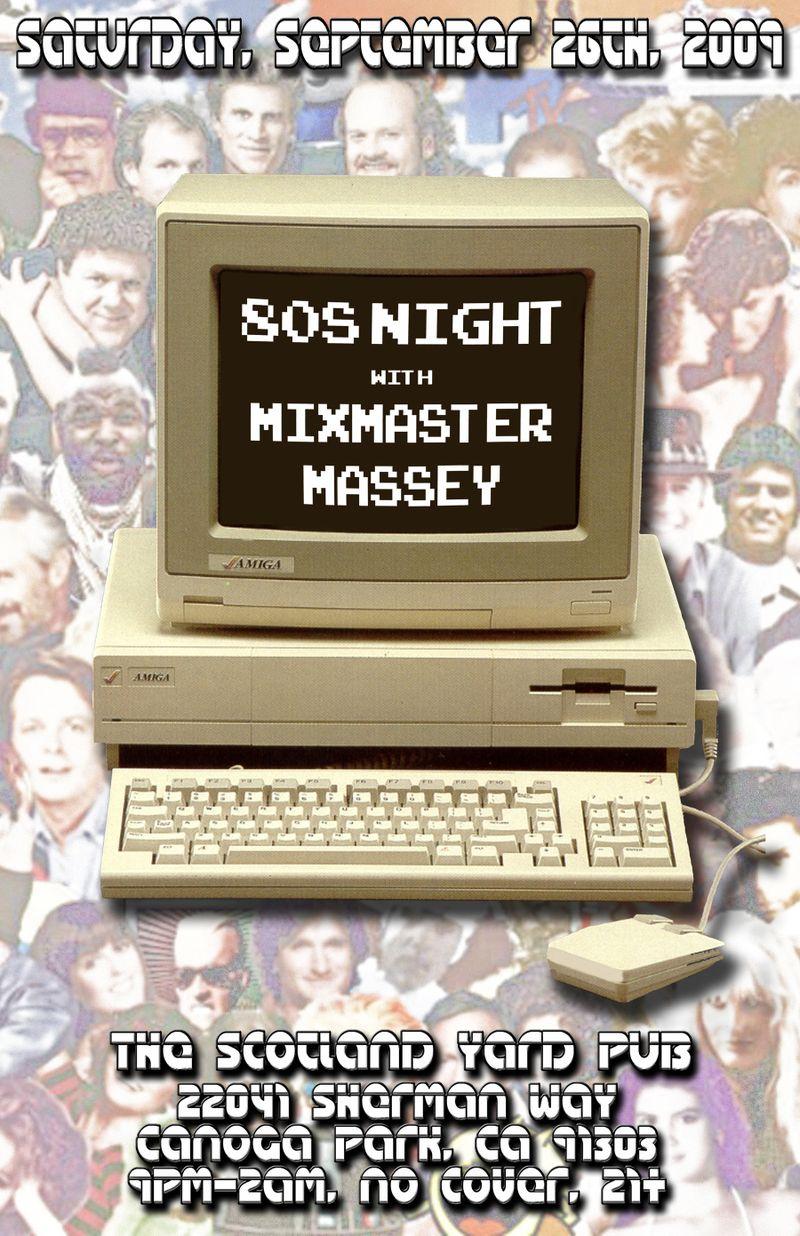 September 09 80s night poster small
