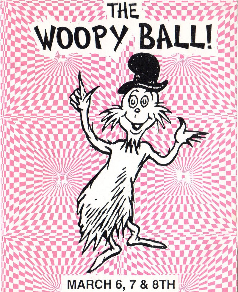 Woopy ball flyer front pink
