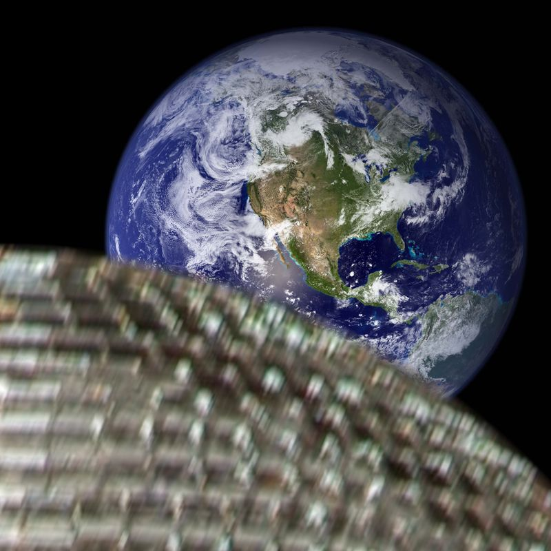 Disco meteor approaches earth