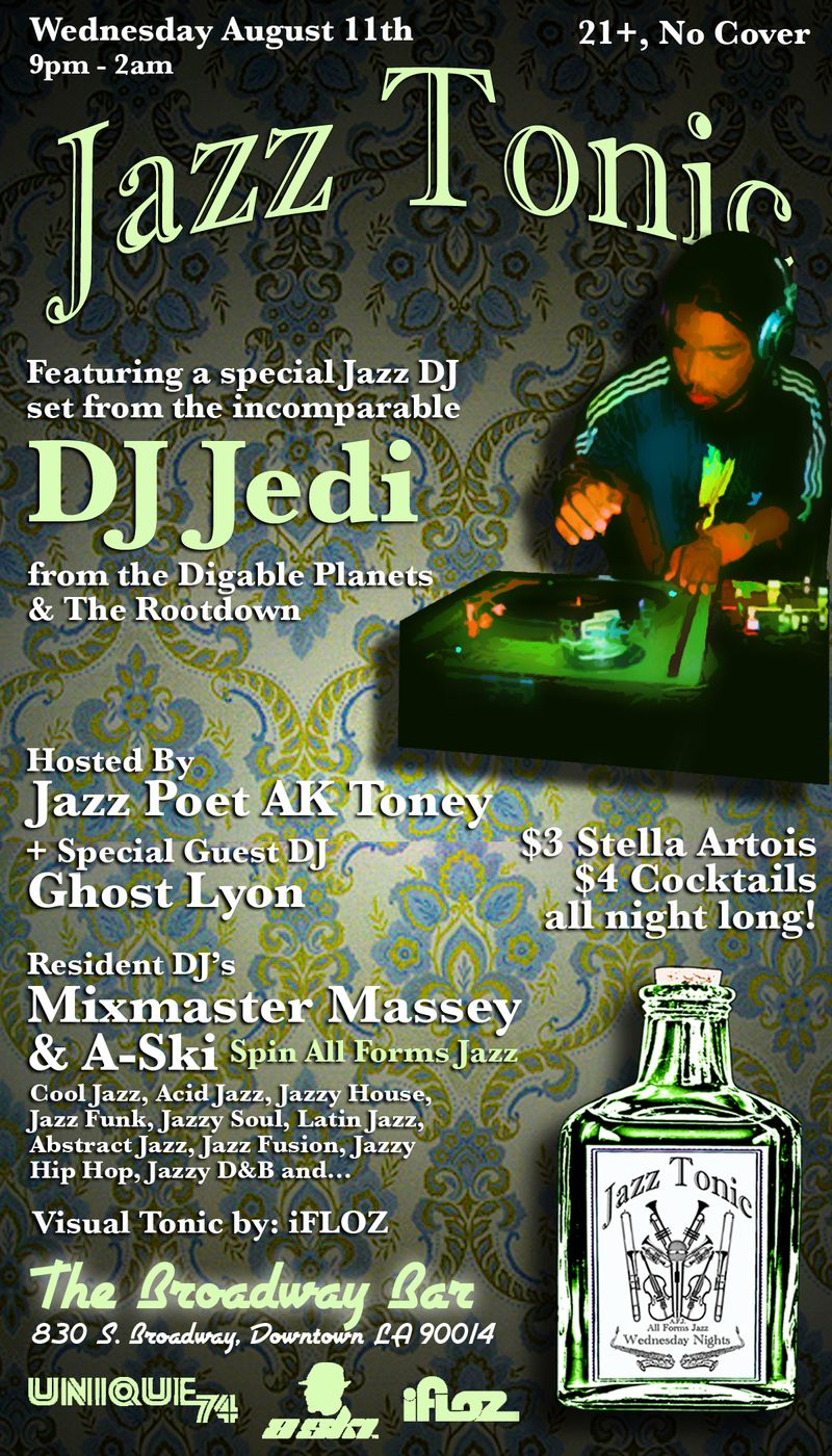 Jazz Tonic flyer 8.11.10
