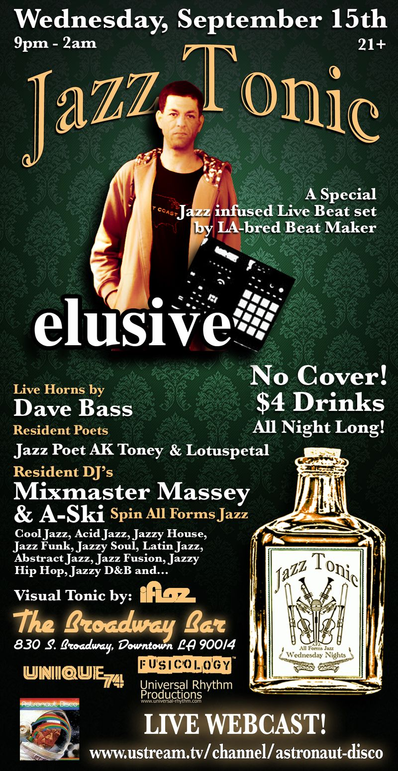 Jazz Tonic Flyer 9.15.10