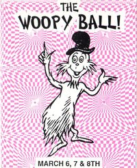 Woopy ball flyer front purple