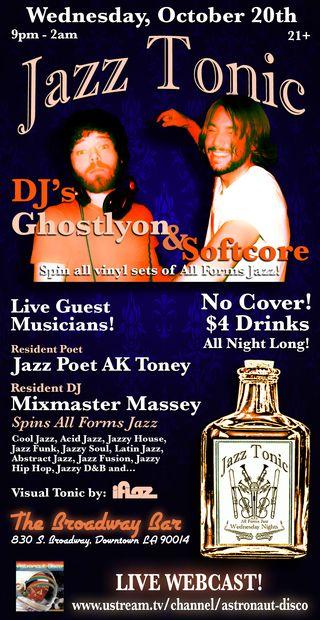 Jazz Tonic Flyer 10.20.10
