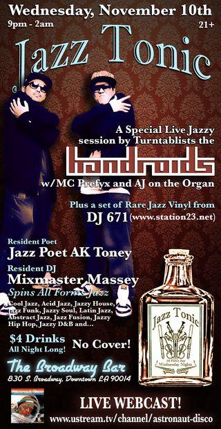 Jazz Tonic Flyer 11.10.10