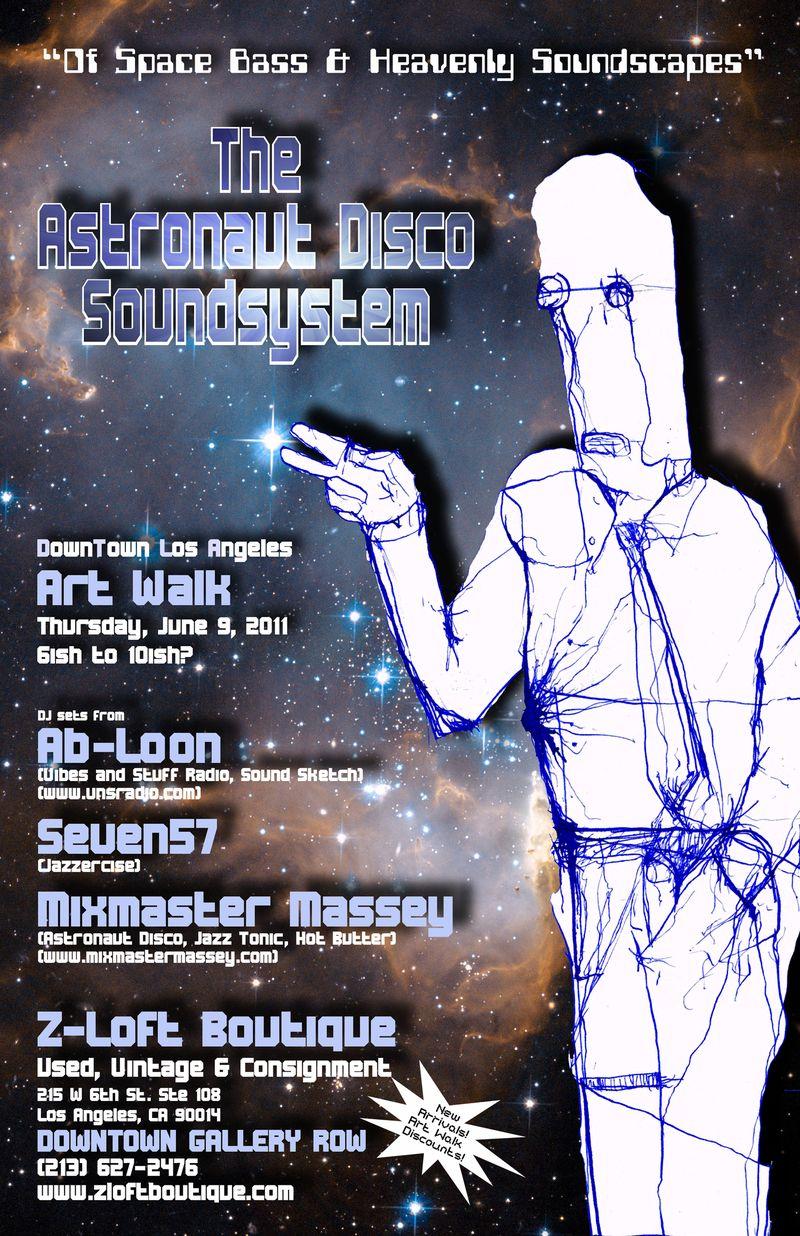 Astronaut Disco soundsystem art walk 6.9.11 smaller