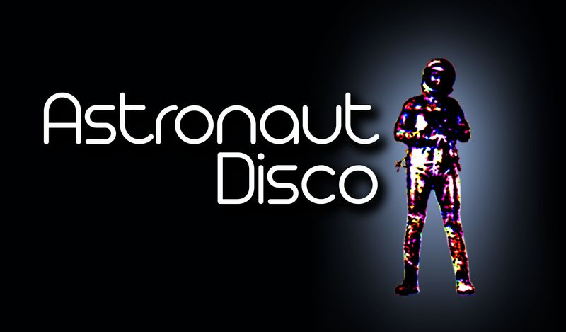 Astronaut disco logo black small