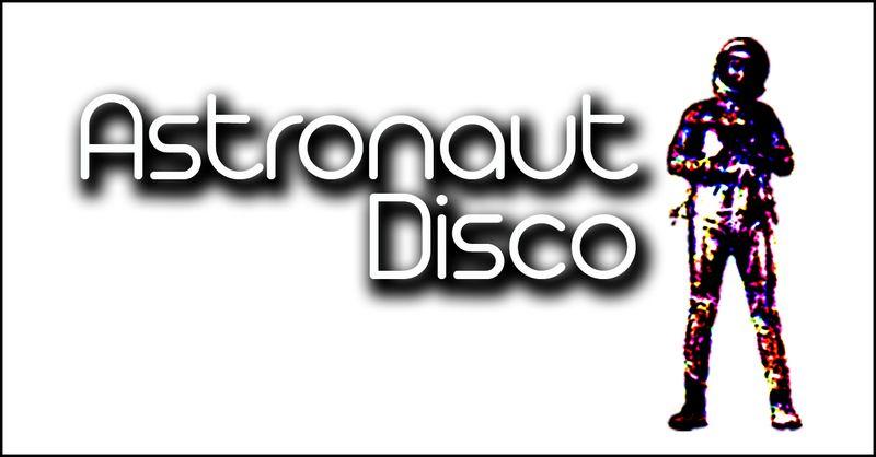 Astronaut disco logo white small