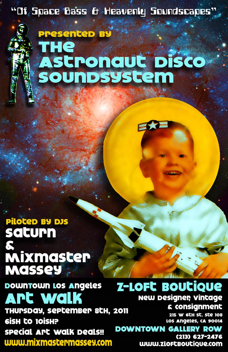 Astronaut Disco Poster 9.8.11 small